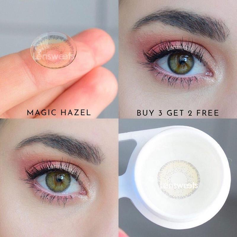 [US Warehouse] Magic Hazel Yearly Colored Contacts