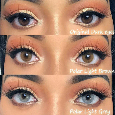 [US Warehouse] Polar Lights Grey Prescription Yearly Colored Contacts