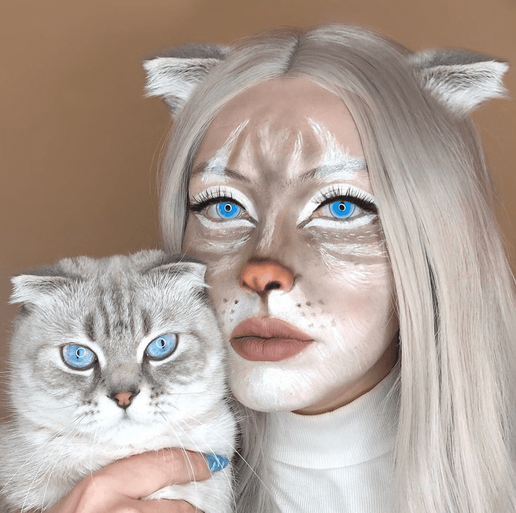 Ragdoll cat Blue Cosplay Yearly Colored Contacts