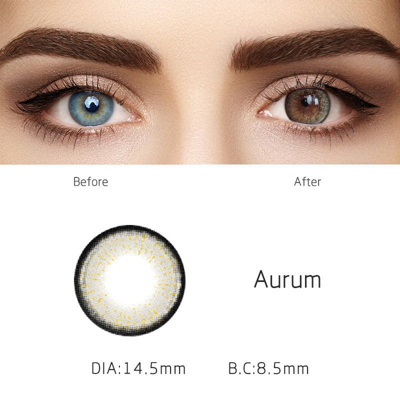 Aurum Grey Yearly Colored Contacts