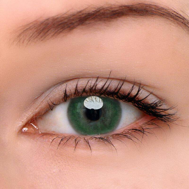 [US Warehouse] Egypt Green Prescription Yearly Contact Lenses