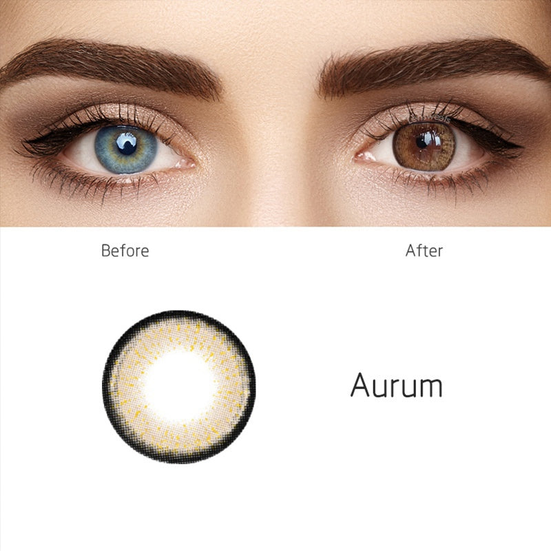 Aurum Brown Yearly Colored Contacts