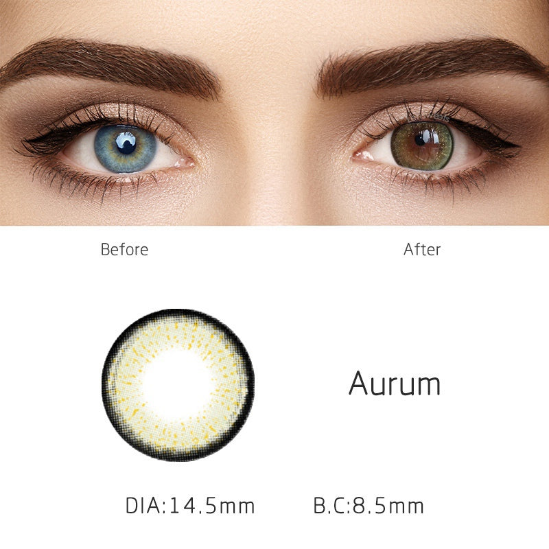 Aurum Green Yearly Colored Contacts