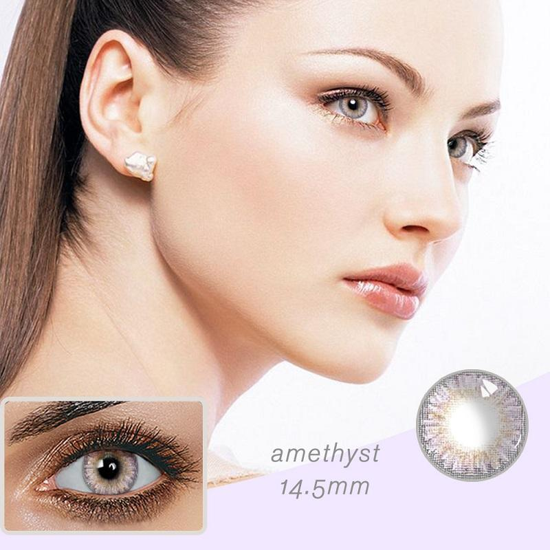 3-Tone Amethyst Colored Contact Lenses
