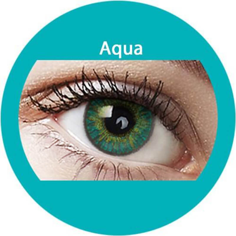 Blends Aqua Yearly Colored Contacts
