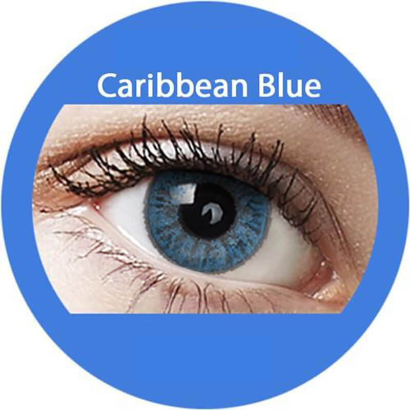 Blends Caribbean Blue Yearly Colored Contacts