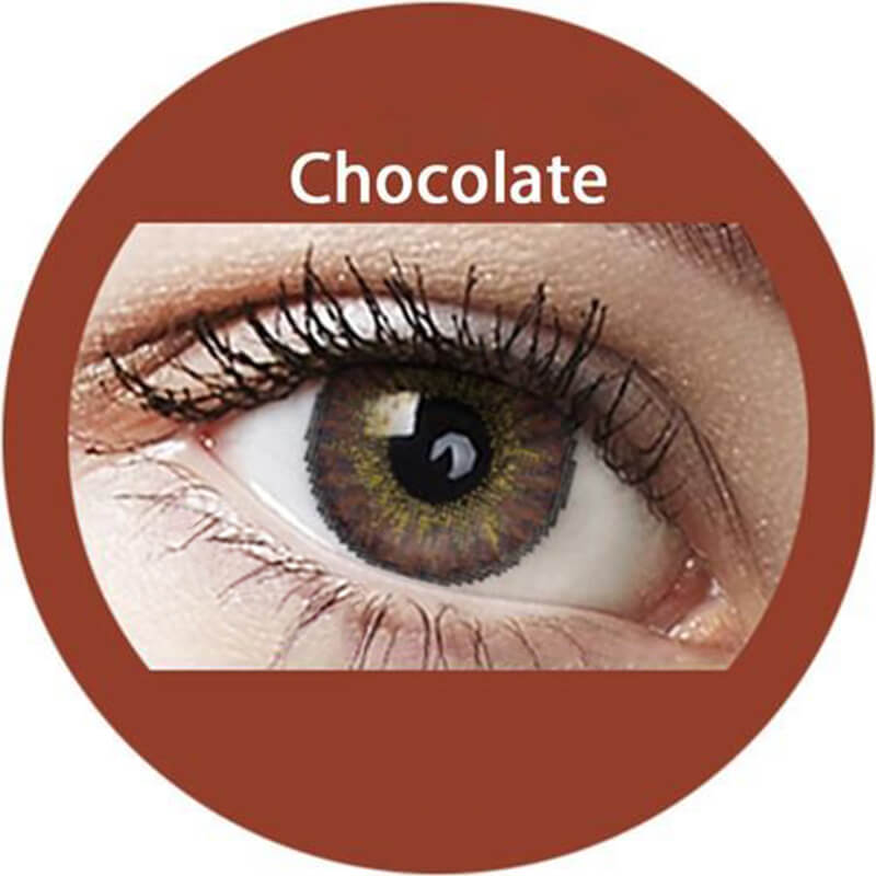 Blends Chocolate Yearly Colored Contacts