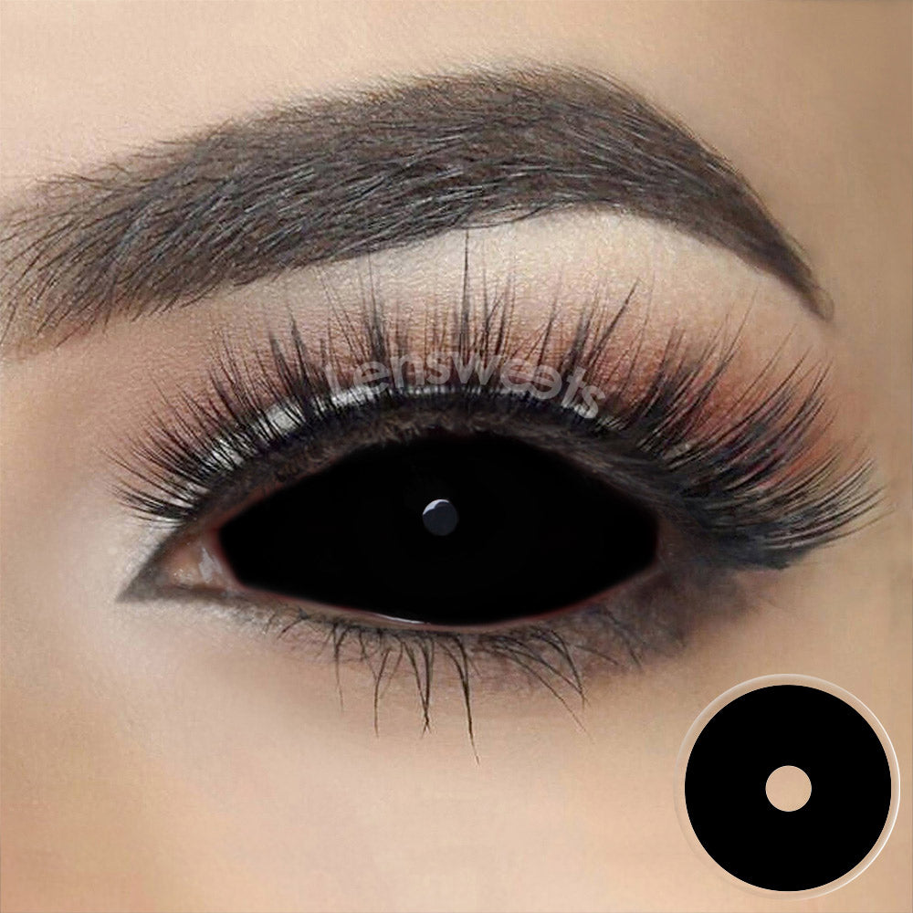 Black Sclera Yearly Colored Contacts