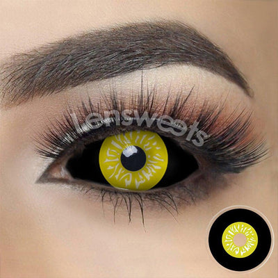 [Special Offer] Black And Yellow Sclera Yearly Colored Contacts