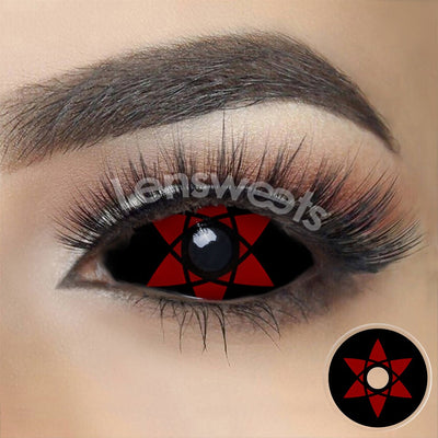 [Special Offer] Sasuke Mangekyou Sharingan Sclera Yearly Colored Contacts