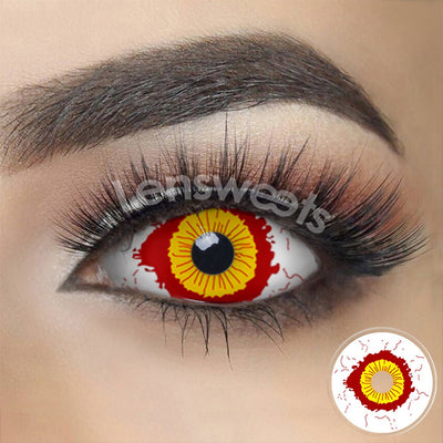 [Special Offer] Fever Yellow And Red Sclera Yearly Colored Contacts