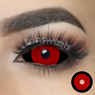 [Special Offer] Black Ring Red Sclera Yearly Colored Contacts