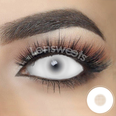 [Special Offer] White Mesh Sclera 22mm Yearly Colored Contacts