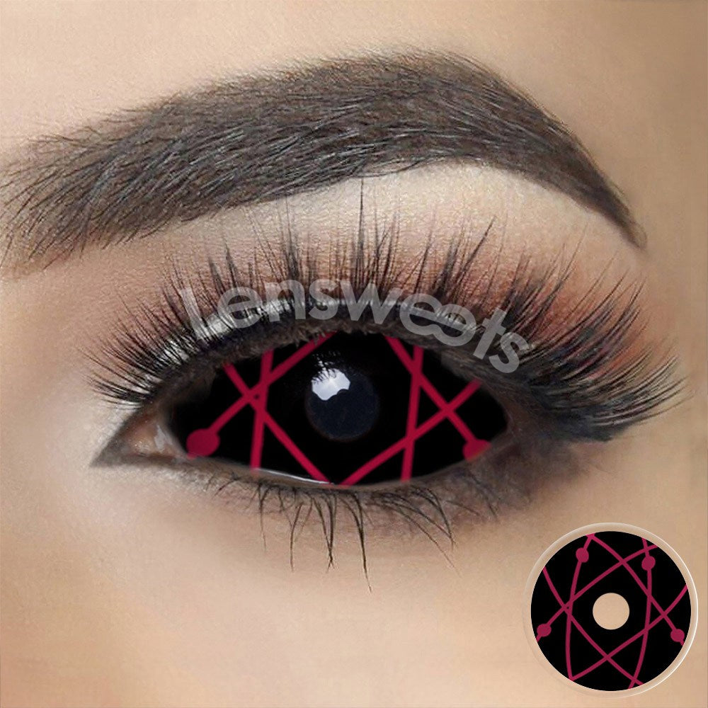 [Special Offer] Red Star Trails Sclera 22mm Yearly Colored Contacts