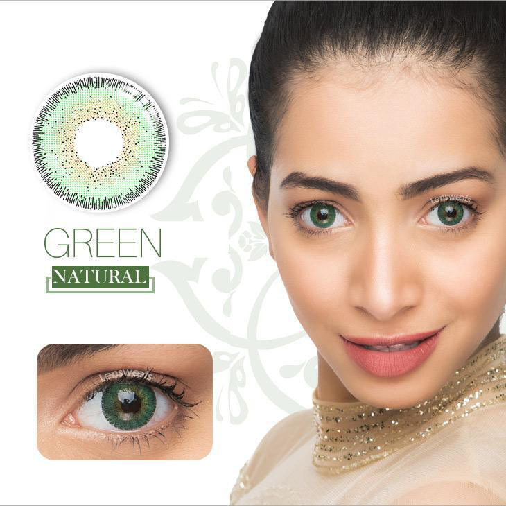 Natural Green Yearly Contact Lenses
