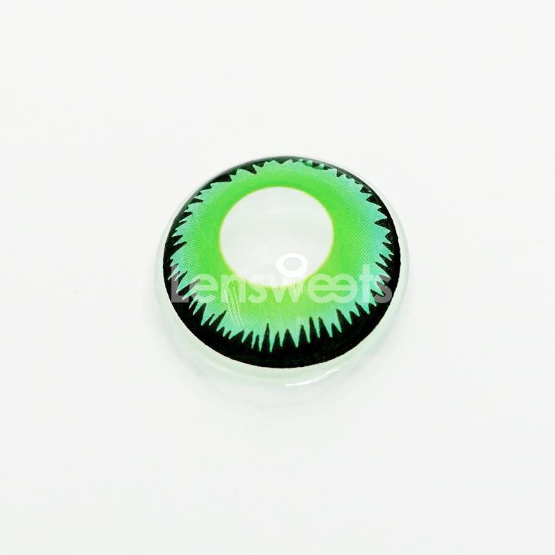 [US Warehouse] Green Werewolf Yearly Colored Contacts