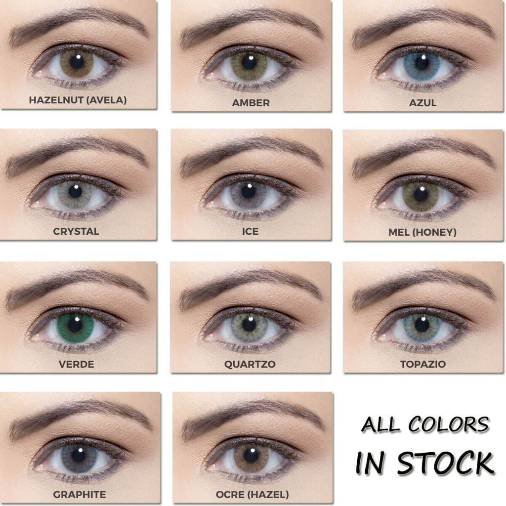 [US Warehouse] Ochre Prescription Yearly Colored Contacts