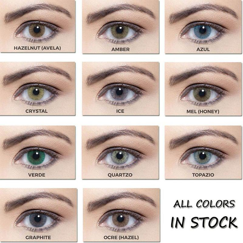 Crystal Prescription Yearly Colored Contacts