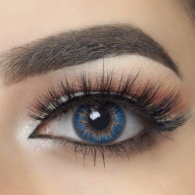 3-Tone True Sapphire Colored Contact Lenses