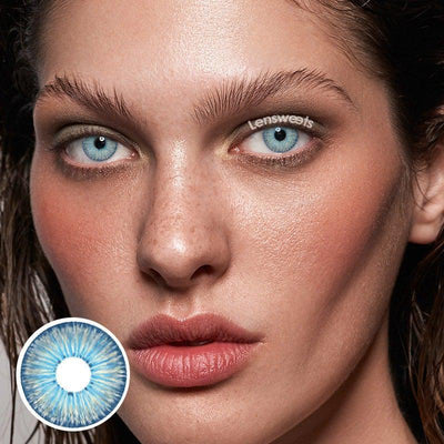 New York Blue Daily Colored Contacts