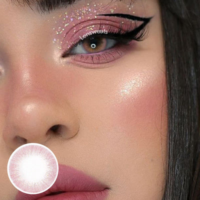 Mousse Pink Yearly Colored Contacts