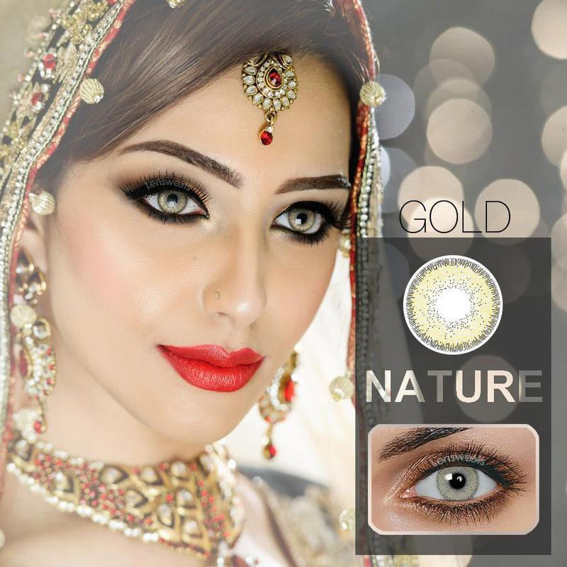 Natural Ocre Contact Lenses