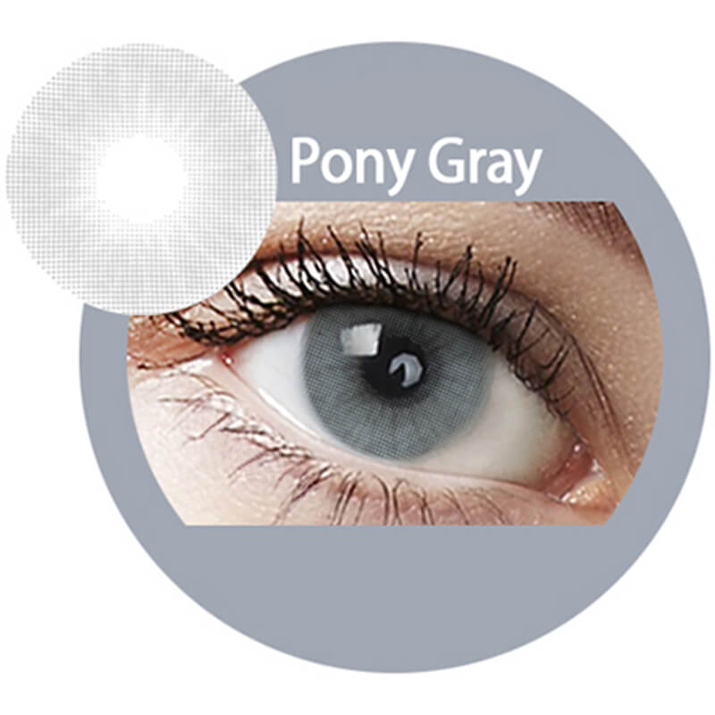 Super Naturals Pony Gray Yearly Colored Contacts