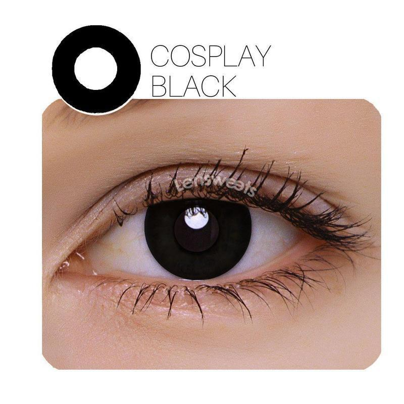 [US Warehouse] Annulus Cosplay Black Yearly Colored Contacts