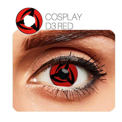 Vortex Cosplay Red Yearly Colored Contacts
