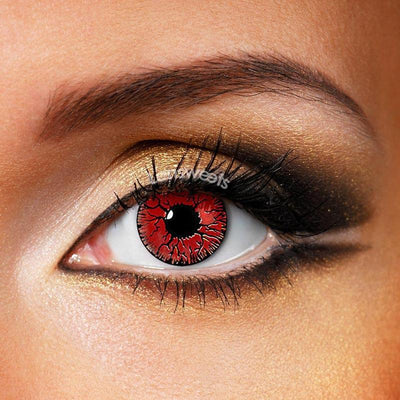 Crack Cosplay Red Yearly Colored Contacts