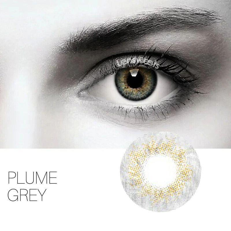 [Special Offer] Plume Grey Yearly Colored Contacts