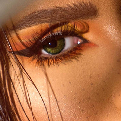 Natural Cool Green Yearly Colored Contacts
