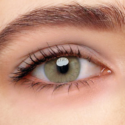 [US Warehouse] Polar Lights Brown Prescription Yearly Colored Contacts