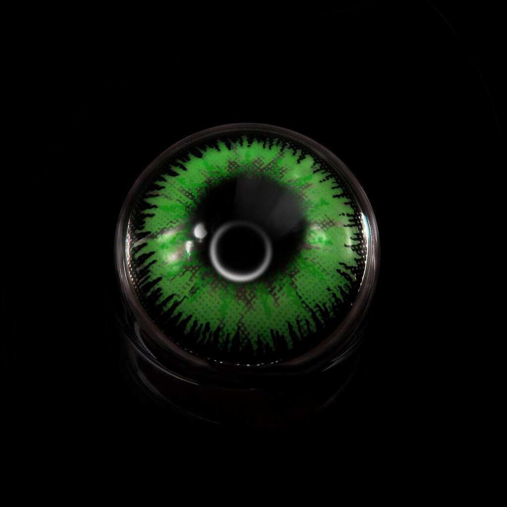 Mystery Prescription Green (12 Month) Contact Lenses - StunningLens