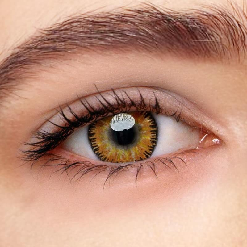 [US Warehouse] Mystery Yellow Prescription Yearly Colored Contacts