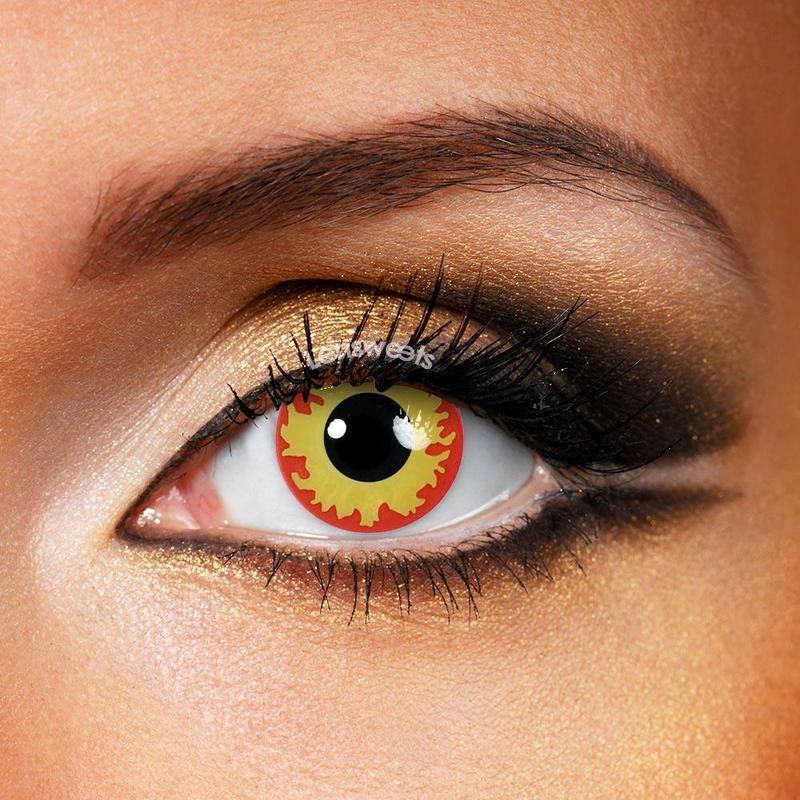 [US Warehouse] Flame Eyes Yearly Colored Contacts