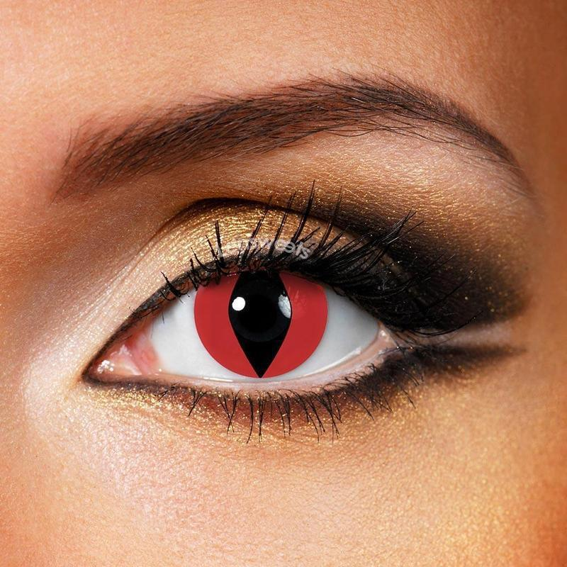Reptile Red Yearly Colored Contacts