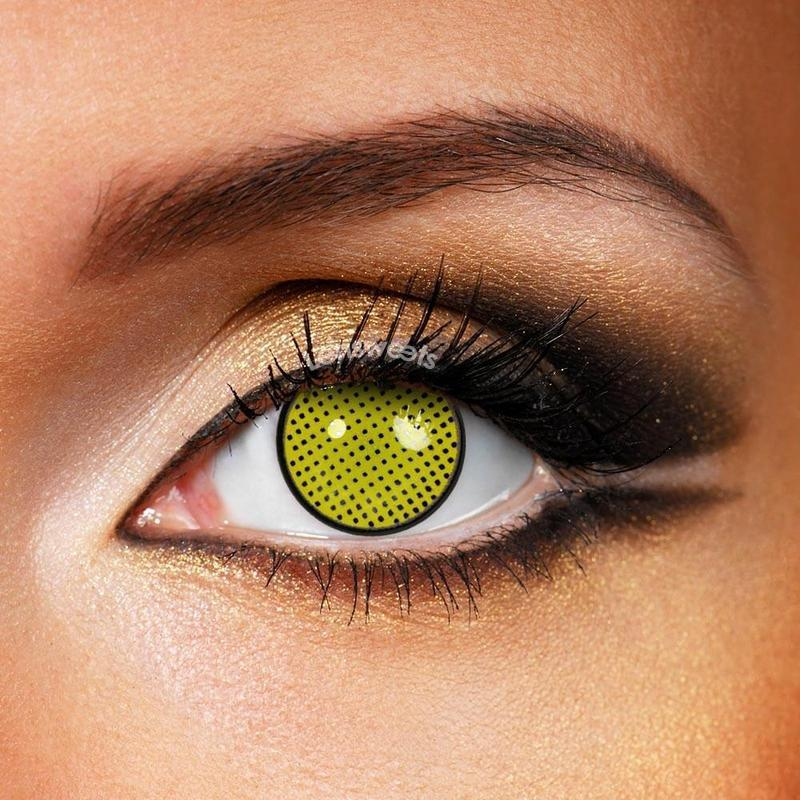 Yellow Mesh Yearly Colored Contacts