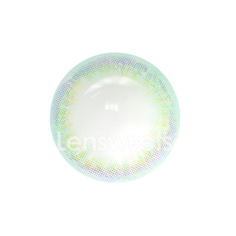 [US Warehouse] Rainbow Neon Green Yearly Colored Contacts