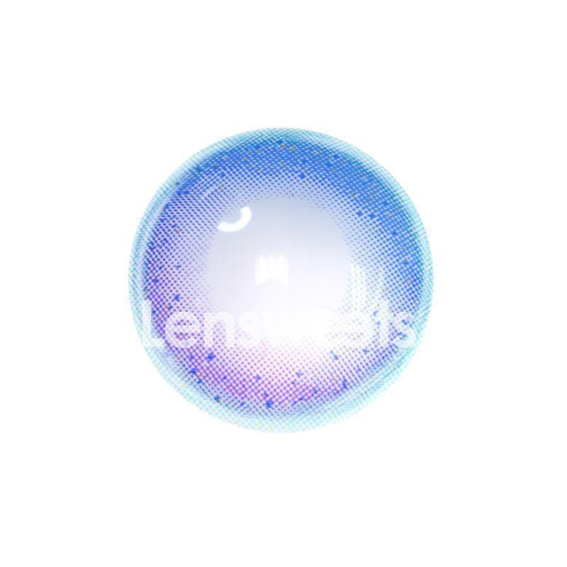 [US Warehouse] Rainbow Neon Blue Yearly Colored Contacts