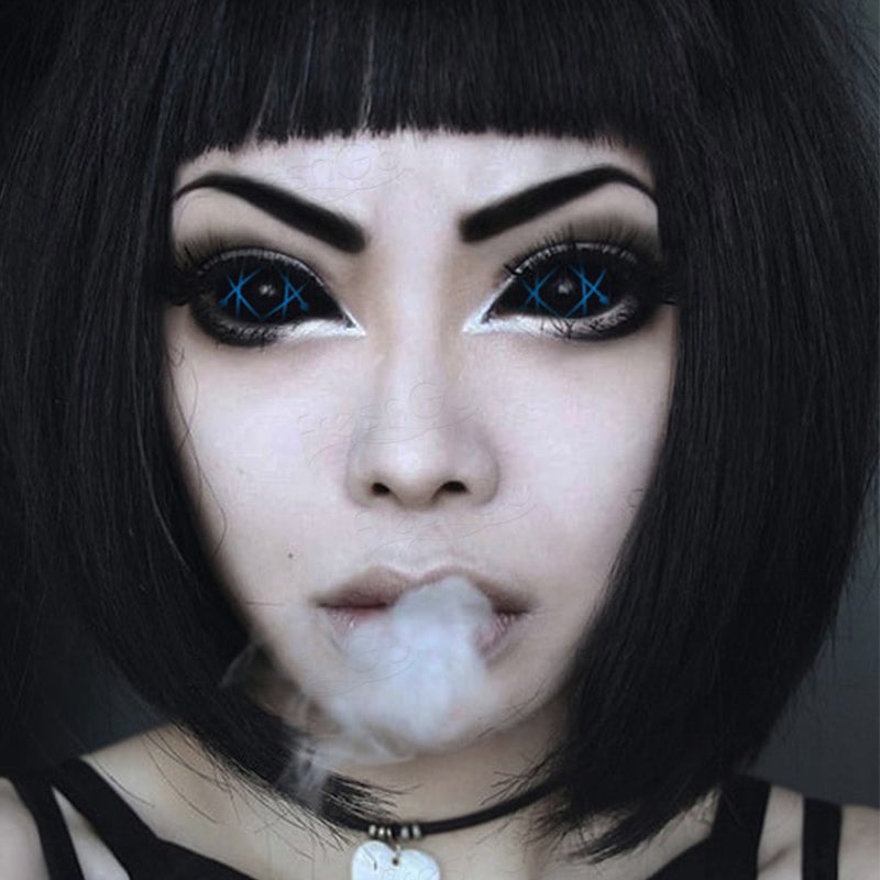 [Special Offer] Blue Star Trails Sclera Yearly Colored Contacts