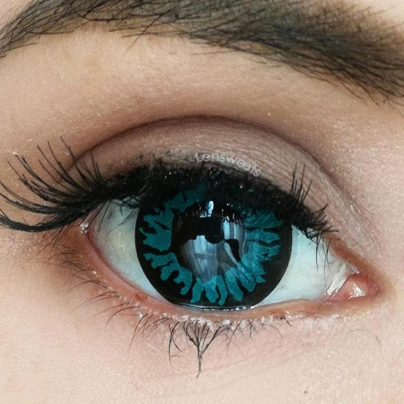 Aqua Panther Yearly Colored Contacts