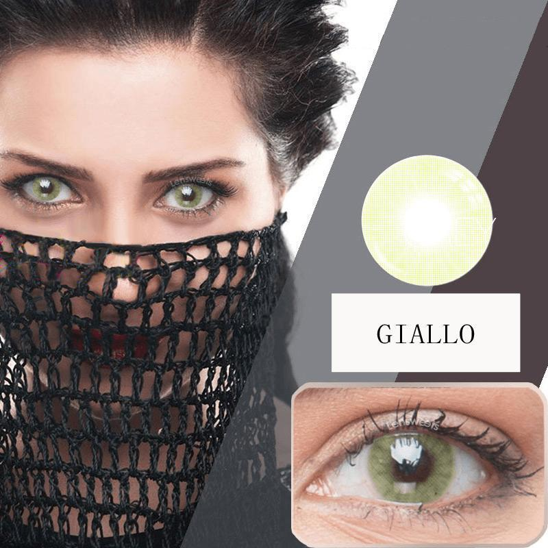 Prescription Giallo Yearly Colored Contacts
