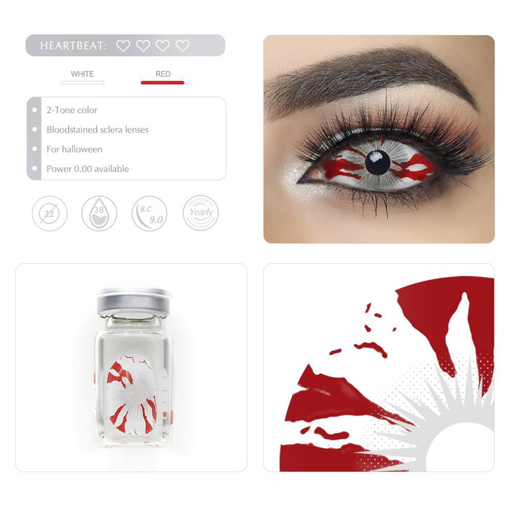 [Special Offer] Bloodstained Sclera 22mm Yearly Colored Contacts