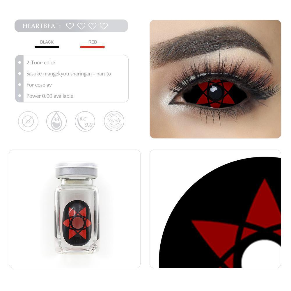 [Special Offer] Sasuke Mangekyou Sharingan Sclera 22mm Yearly Colored Contacts