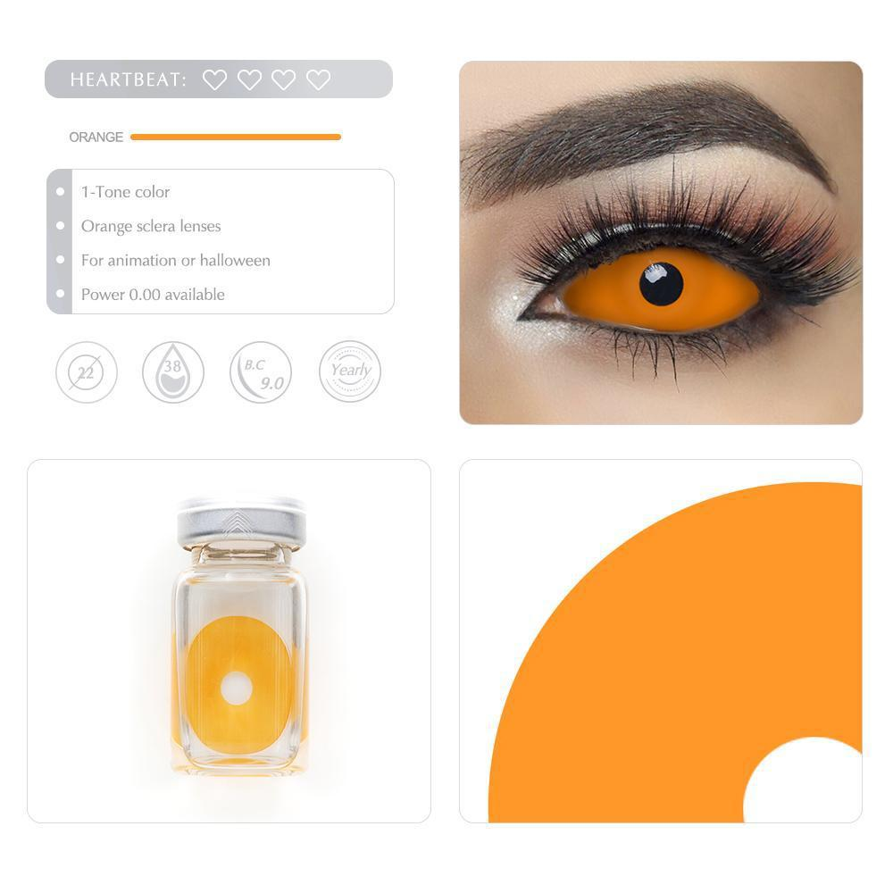 [Special Offer] Orange Sclera 22mm Yearly Colored Contacts