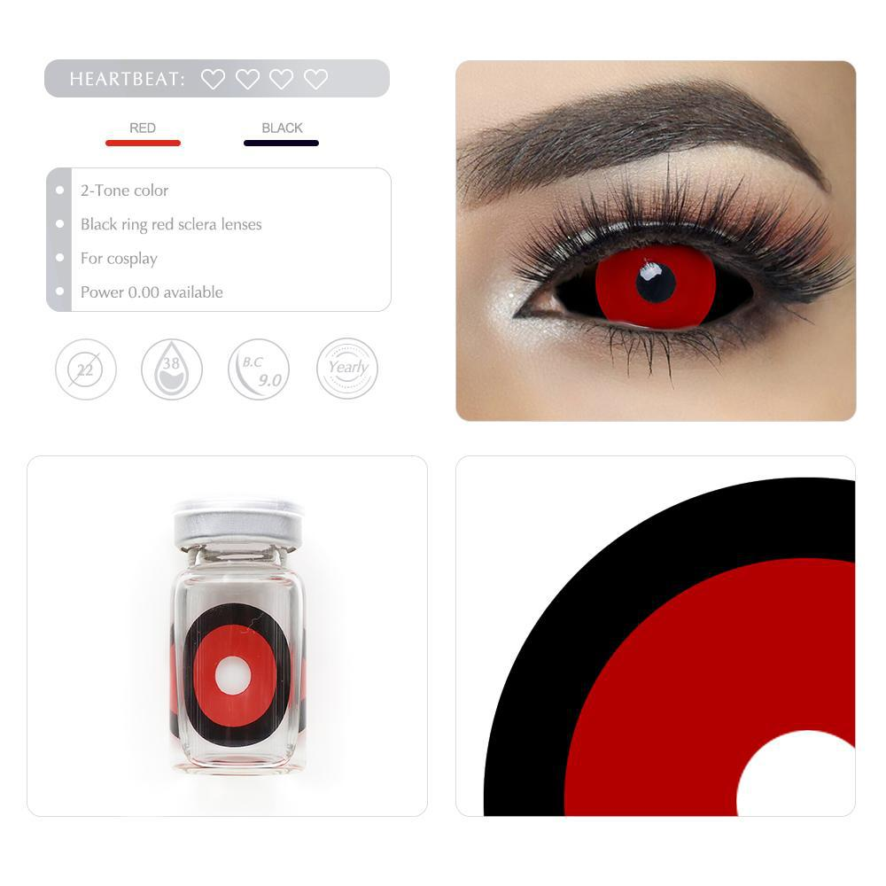 [Special Offer] Black Ring Red Sclera 22mm Yearly Colored Contacts