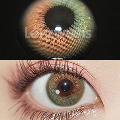 Firmament Green Prescription Yearly Colored Contacts