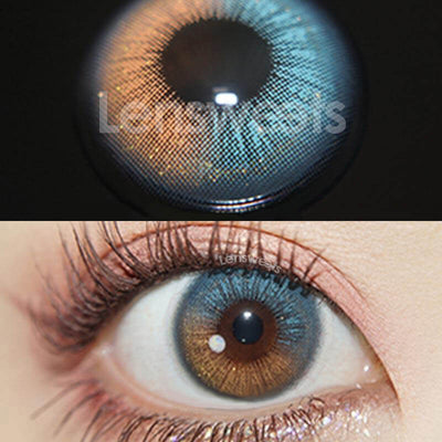 Firmament Blue Prescription Yearly Colored Contacts