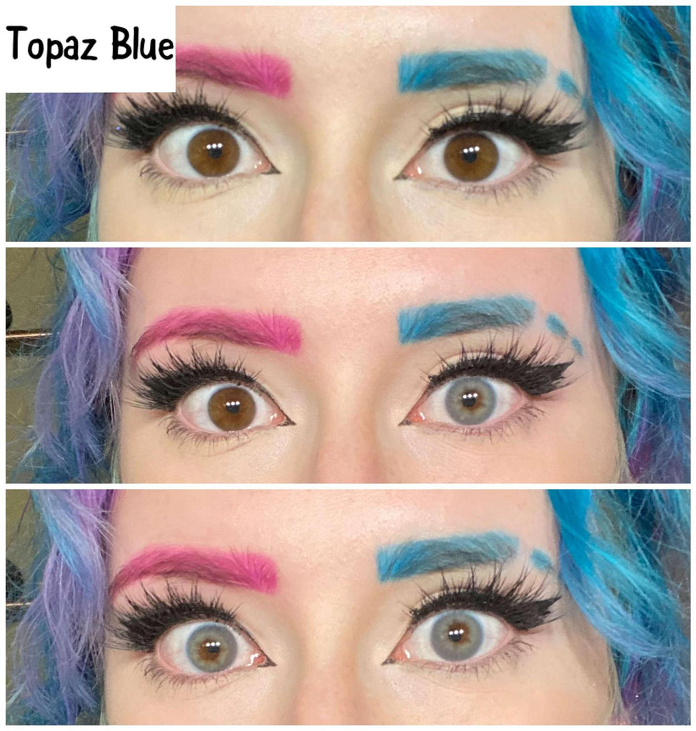 Topaz Blue Yearly Colored Contacts